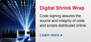 Code signing identifies the source and ensures the integrity of code and scripts distributed online. Learn how