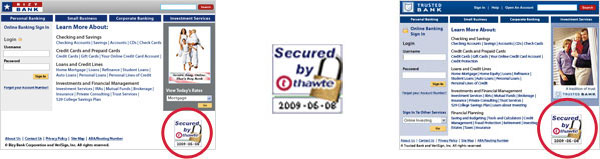 Free thawte trusted site seal