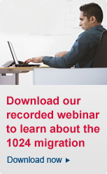 Download our recorded webinar to learn about the 1024 migration.