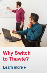 Why switch to Thawte? Click here to learn more >