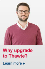 Why upgrade to Thawte? Click here to learn more >